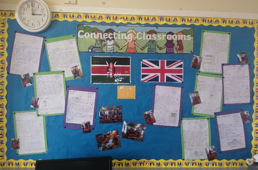 Dunclug PS Connecting Classrooms noticeboard