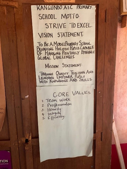 Kenyan primary school mission statement