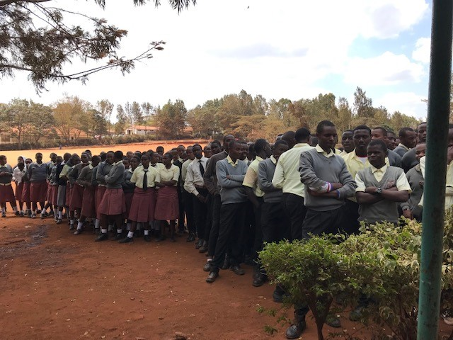 Kenyan secondary school pupil group