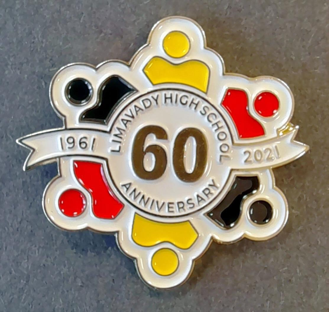 photo of LHS 60th anniversary badge