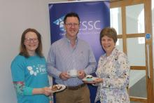 Sara McCracken CSSC, Dr Andy Brown and Dr Anne Heaslett, Stranmillis University College