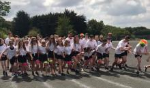 Tandragee Junior High School pupils at Colour Run