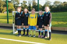 Augher Primary School pupils preparing for 5-a-side football competition