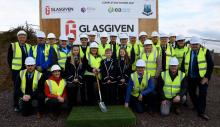 Devenish College construction start group photo