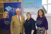 Assistance Dogs NI charity partnership event group photo