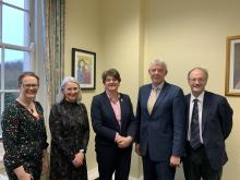Controlled Schools' Support Council's senior management team with DUP leader Arlene Foster MLA and Peter Weir MLA