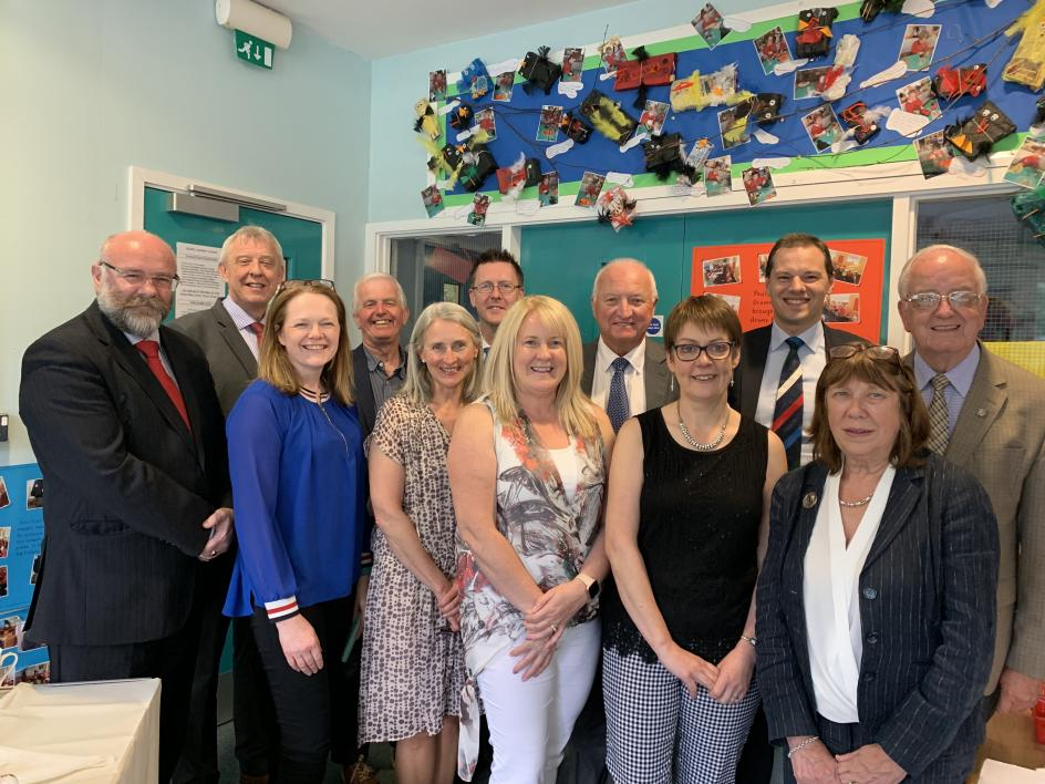 CSSC Council members and CSSC staff pictured at Kilkeel Nursery School