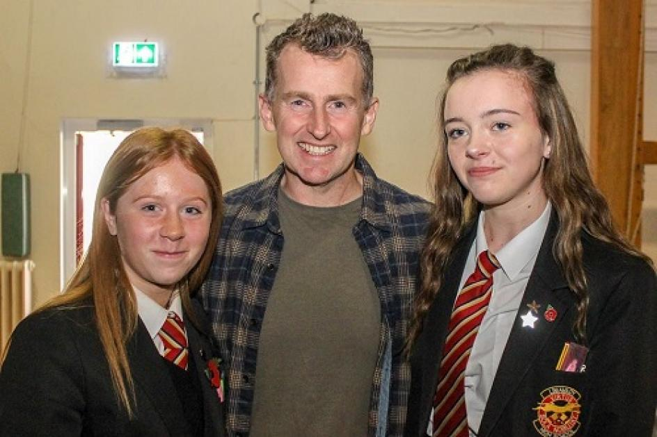 Nigel Owens at Limiavady High School