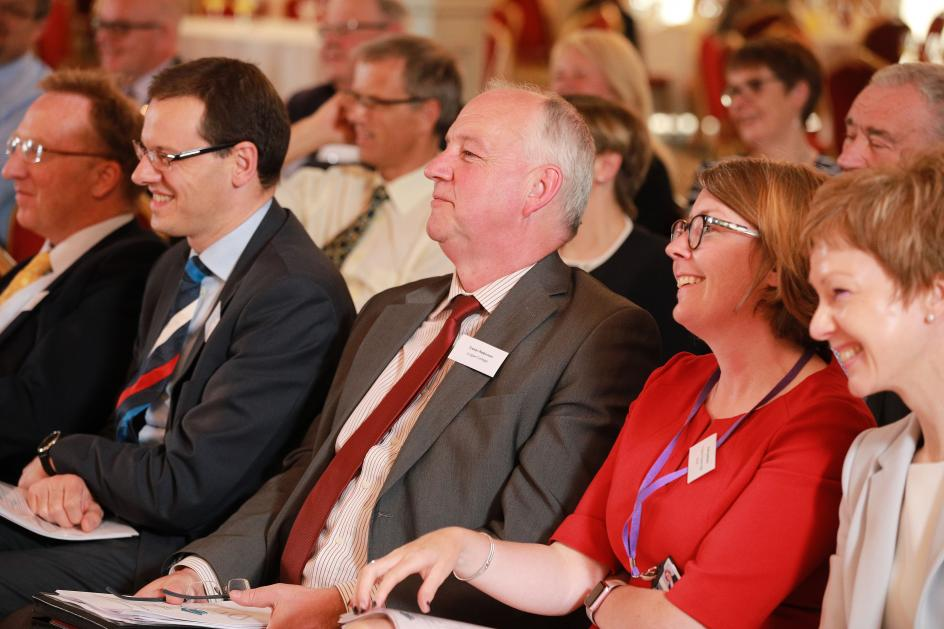Audience shot Robin McLoughlin Banbridge Academy, Ruth Harkness CSH, Trevor Robinson Lurgan College and and Gillian Gibb Portadown College