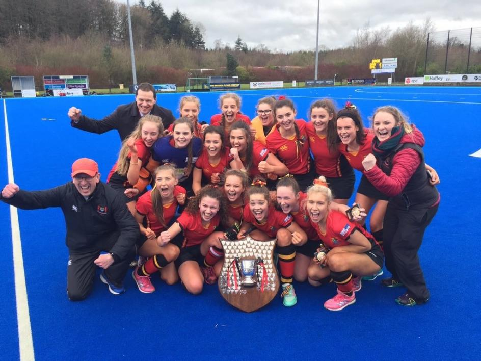 Banbridge Academy Girls' Hockey 1st XI Team -  Winners BT Schools' Cup Final 2019